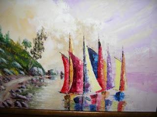 Πίνακές μου. ελαιογραφίες σε μουσαμά