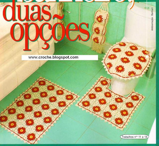 Juegos De Baño A Gancho:Entre Hilos y Puntadas: Juegos de baño tejidos