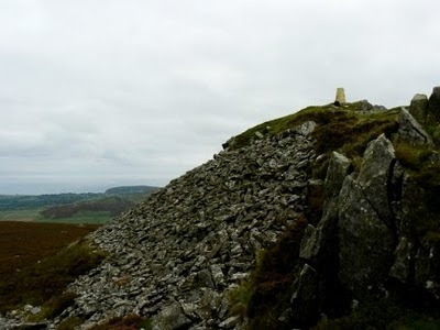 The summit of Carn Fadryn