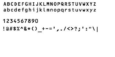 Acid Fonts: OCR Fonts (Used In Credit Cards)