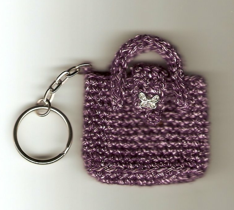 Crochet and Other Stuff: Purse Keychain by Mary Jane Hall