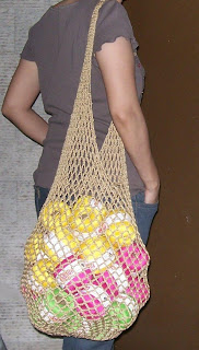 Easy Crochet Mesh Bag Pattern : Crochet and Other Stuff: Got distracted again - crochet ...