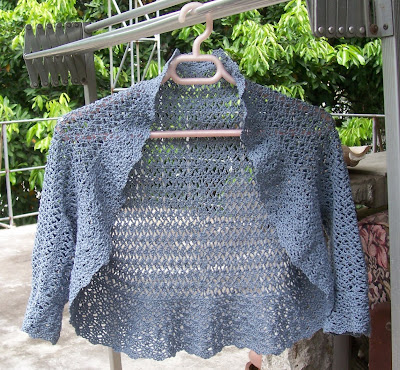 How to Crochet Cotton Easy Crochet Pattern Shrug Bolero