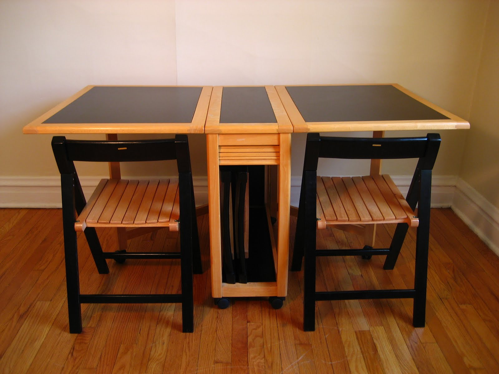 Folding Table And Chair Set One Half With Ottoman Flatout Design March 2010