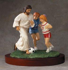 Jesus Playing Soccer