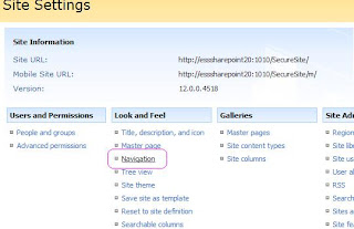 Enabling Drop down menu for multi level in SharePoint 2007 sites Top