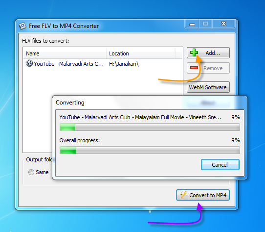 How to convert FLV video to MP4 format free