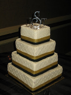 Wedding Cakes By Mary Ann  Black and Gold Wedding Cake Black and Gold Wedding Cake
