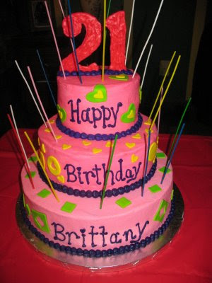 21st Birthday Cake Ideas On This Was A Surprise For Brittany The Flavors