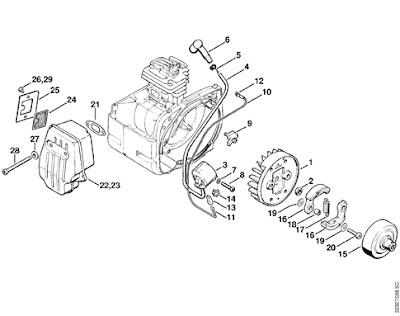 Stihl 038 Parts Diagram, Stihl, Free Engine Image For User