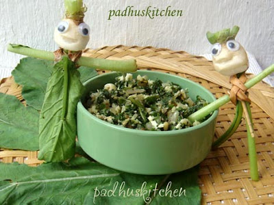 Radish greens curry-Mullangi keerai poriyal
