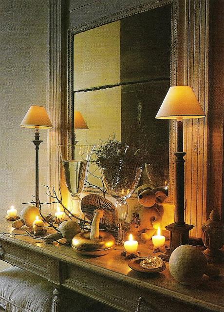 Warm holiday vignette, Côté Sud Dec 2001-Jan 2002 , as seen on linenandlavender.net