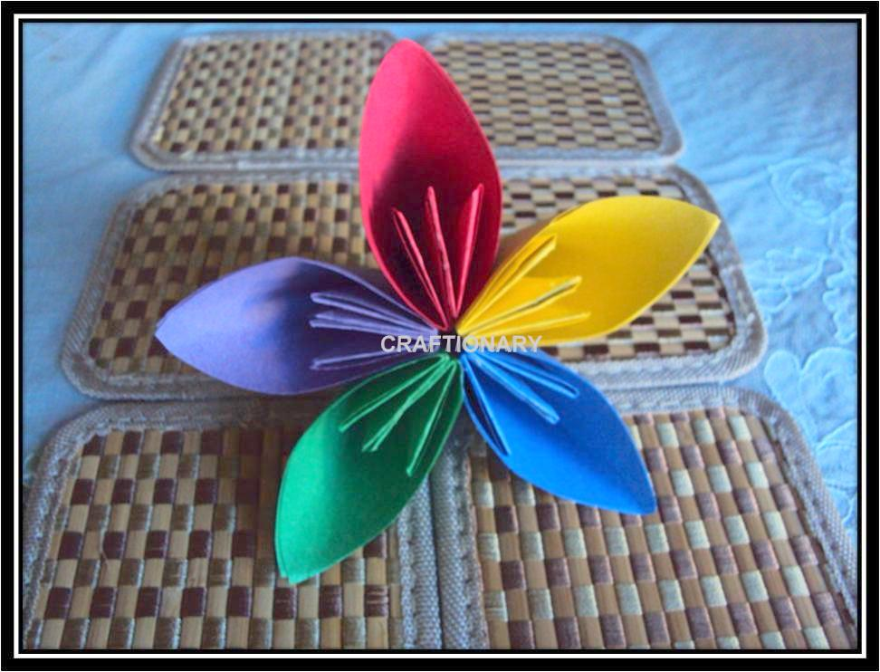 Easy flower paper craft origamieasycolorfulflowerg mightylinksfo