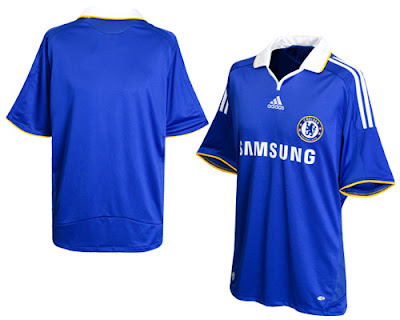 finest selection 7f3d0 ea6d9 New Kits on The Blog: Chelsea Home Shirt 2008/09