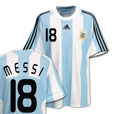 best authentic 2a053 b0681 New Kits on The Blog: Argentina Home Shirt 2008/09 with ...