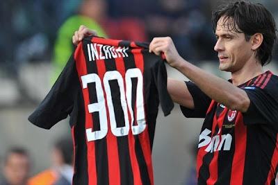 New Kits on The Blog: Pippo Inzaghi 300th Goal AC Milan Shirt
