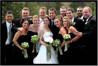 Wedding Party on Yellow And Black Color Scheme February 2  2009
