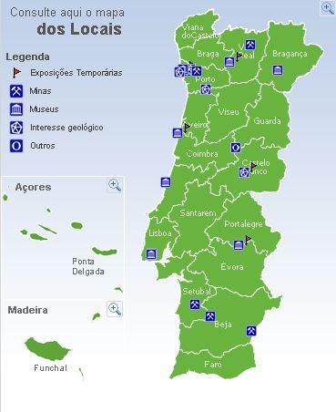 mapa de minas em portugal Coordenadas: Roteiro das Minas e Pontos de Interesse Mineiro e  mapa de minas em portugal