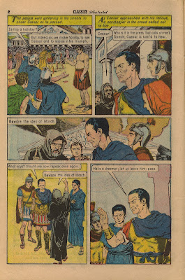 comic book shakespeare julius caesar ides of march classics illustrated