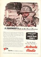 echophone radio ad 1944 hogarth