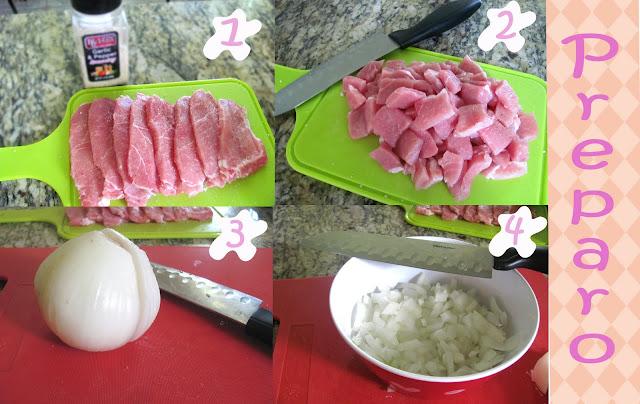 Strogonoff de Carne de Porco