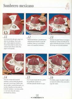 030 Torta Sombrero Mexicano decorar, decoración