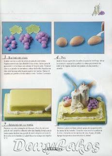 tortas17 Torta Comunion decorar, decoración