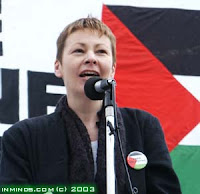 My nominee speaking at a rally during the Israeli invasion of Lebanon and Gaza