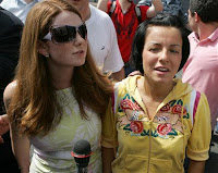 Tatu attended the event proving their politics are much better than their music (pic from Reuters)