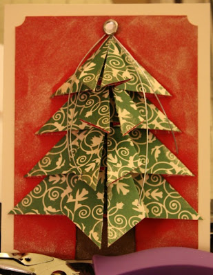The Scrappin' Mama Studios: Origami Christmas Tree Card 3D - photo#49