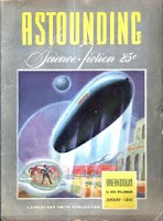 Cover by Rogers of Astounding Science-Fiction magazine, January 1942 issue