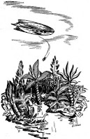 One of the illustrations accompanying the original publication in Astounding, August 1943, of short story M 33 in Andromeda by A E van Vogt