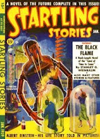 Cover image of the first ever issue of Startling Stories magazine, dated January 1939