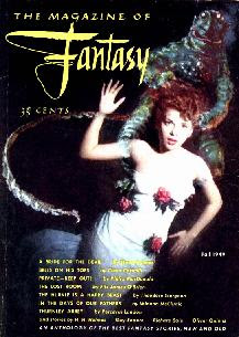 Cover image titled Codachrome by Bill Stone of the inaugural issue Fall 1949 of The Magazine of Fantasy and Science Fiction