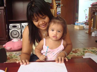Teaching betty to write her name