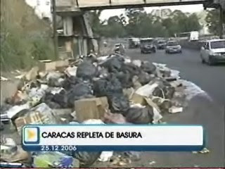 Basura en calles de Caracas