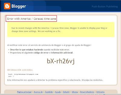 Error BX-RH26VJ de Blogger