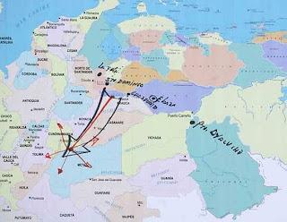 Mapa Rescate Secuestrados en Colombia