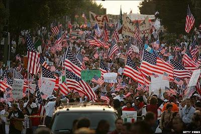 Marcha de inmigrantes es EEUU