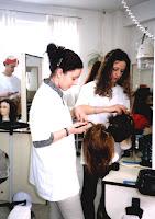 Peluquería y la secadera de pelo