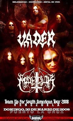 Marduk + Vader en Venezuela