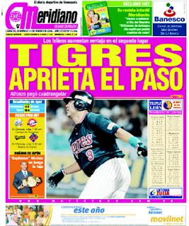 Meridiano 01/13/2008 - Tigres de Aragua