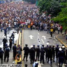 Protestas de Universitarios venezolanos por la Libertad de Expresión