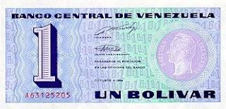 Billete de 1 bolívar