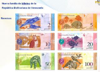 Billetes Bolívar Fuerte Reverso