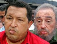 Chávez y Fidel Castro