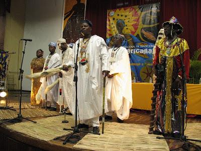 Sacerdotes Ifá de Nigeria - Inauguración FITA 2008