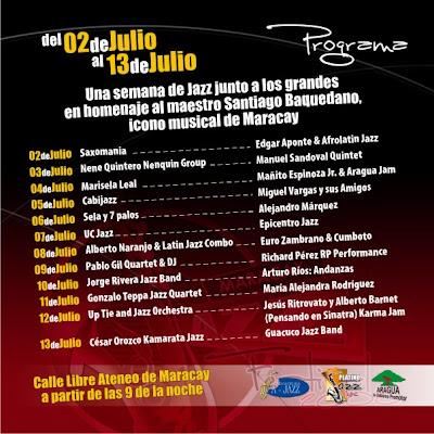 Programa Maracay Jazz Festival 2008