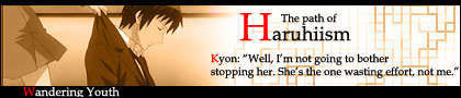 """O caminho para o Haruhiismo - """"Bem, eu não vou me aborrecer tentando para-la. É ela quem esta perdendo tempo e não eu"""""""