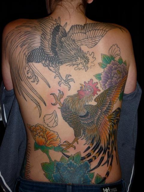 Cock Fight Tattoo 38